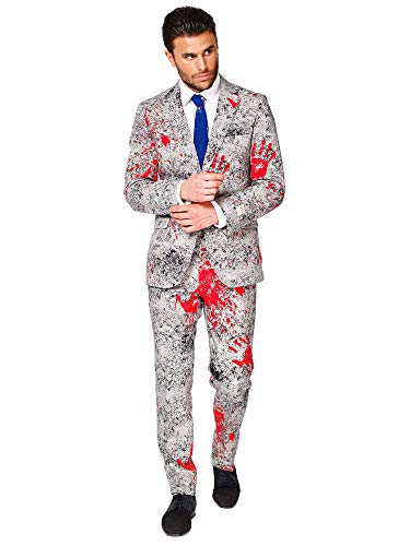 Funny Make It Yourself Halloween Costumes (OppoSuits Halloween Costumes for Men - Zombiac - Full Suit: Includes Jacket, Pants and Tie -)