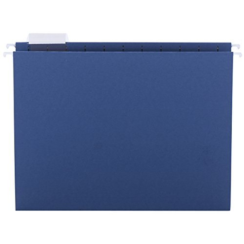 Smead Hanging File Folder, 1/5-Cut Adjustable Tab, Letter Size, Navy, 25 per Box (64057) - Hanging File Systems Type