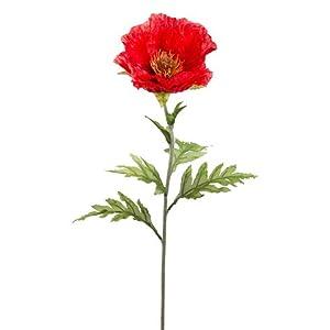 "28"" Poppy Spray Red (Pack of 12) 105"