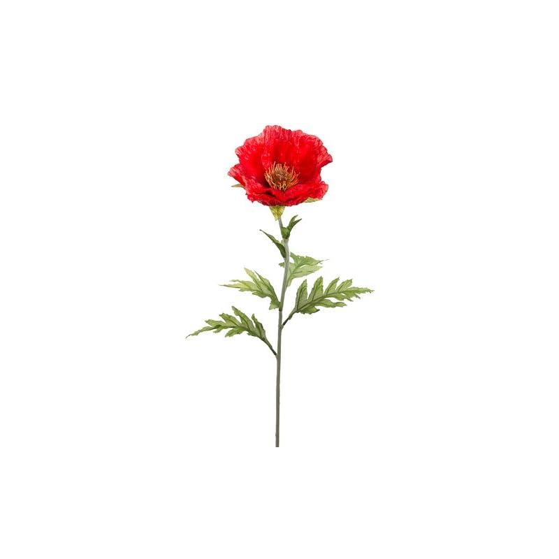 """silk flower arrangements 28"""" poppy spray red (pack of 12)"""