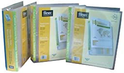 Filexec View 3 Ring Binder, Custom Front, Spine and Back Pockets, 2 Inch Capacity, Letter size, Pack of 3, Clear (50159-64843)