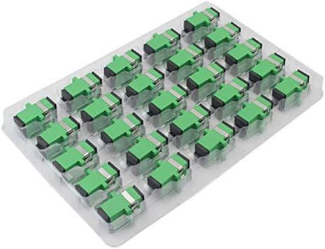 Tivollyff シンプレックスファイバーカプラーSC/aPCシングルモードファイバーコネクタファイバーアダプター