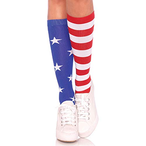 - Leg Avenue Womens Stars and Stripes Knee Socks