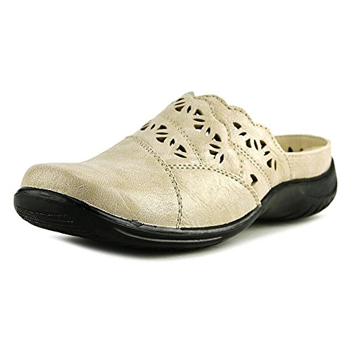 Easy Street Womens Forever Clog Beige 9 M Leather-Faux 1