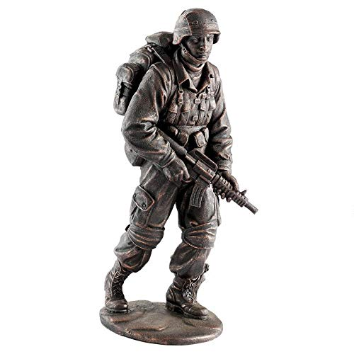 Design Toscano Salute to Our Heroes Military Soldier Statue, Bronze