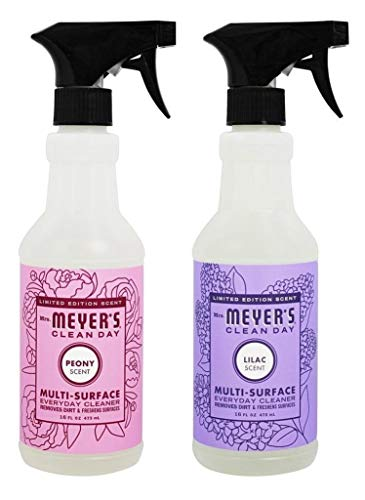 Mrs. Meyers Clean Day Multi-surface Everyday Cleaner, 16.0 Fluid Ounce Lilac & Peony Set of Two