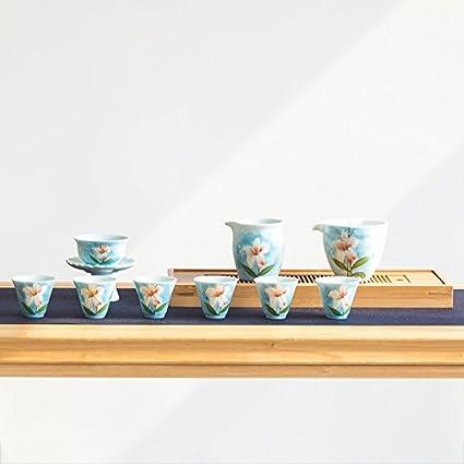 CUPWENH Todo El Salón Ancestral De La Longquan Celadón Zhenchang Lily Pintado A Mano Juegos De