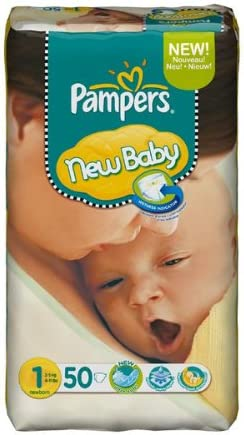 Size 1 Pampers New Baby 96 Nappies 2-5 kg