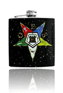 6oz OES Star In The Sky Vinyl Wrap Stainless Steel Flask