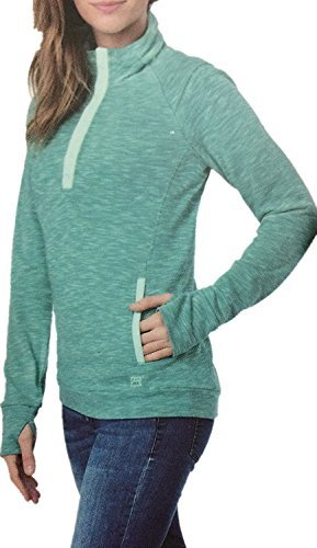 Avalanche Ladies' Snap Neck Pullover, M, Green