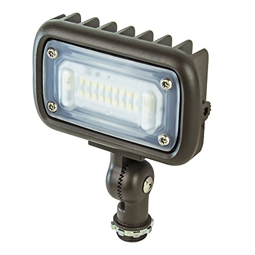 "Newhouse Lighting WW15BRZ 15-Watt Outdoor Die-Cast Aluminum LED Wall Wash Flood, Weatherproof Landscape Lighting 1375 Lumens, 3000K Warm White, 120-277V, 1/2"" Knuckle Mount, Bronze"