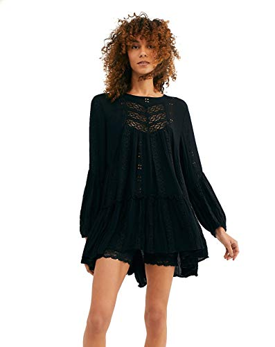 - Free People Women's Kiss Kiss Tunic, Black, X-Small