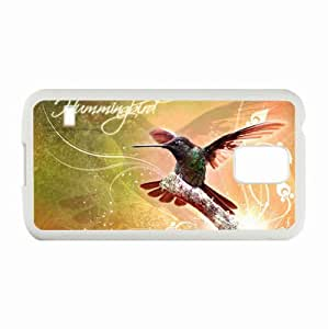 Samsung Galaxy S5 SV Cases Customized Gifts Hummingbird White Hard PC Case