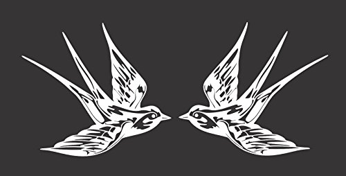 Two Barn Swallows Birds - Die Cut Vinyl Window Decal/Sticker for Car/Truck 8