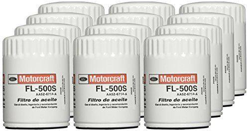 - Motorcraft FL500SB12-12PK Oil Filter Fleet (Pk Aa5Z6714B)-Pack of 12