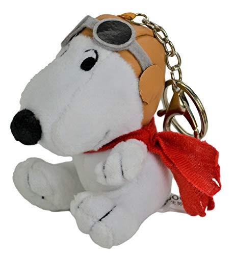 Snoopy Flying Ace Car Accessory Cute Soft Plush Ultra Detail Chain Keychain Bag Charm Key Clip Pendant 4