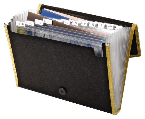 Globe-Weis/Pendaflex 13 Pocket File, Black, (27895BLK) - Globe Weis Fabric