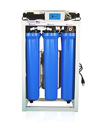 LiquaGen - Reverse Osmosis + Deionization (RO/DI) - 800 GPD Commercial Grade Water Filtration System w/ Dual Booster Pumps