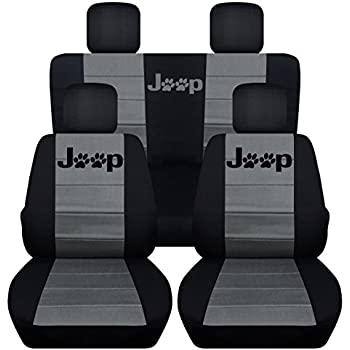Jeep Seat Covers >> Amazon Com 2011 2017 Jeep Wrangler Jk Seat Covers Black Full