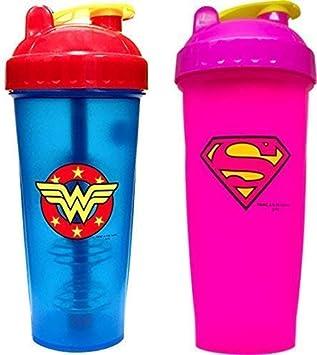 2X Mujer Gimnasio Mezclador de Proteínas Botella Mezclador ...