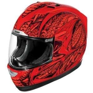 Icon Alliance Speedmetal Helmet - Small/Red