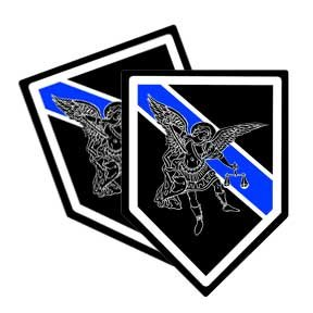 St Michael Blue Line Police Decal - 20 (Asterisk Decal)