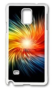 MOKSHOP Adorable Dazzling colors Hard Case Protective Shell Cell Phone Cover For Samsung Galaxy Note 4 - PC White