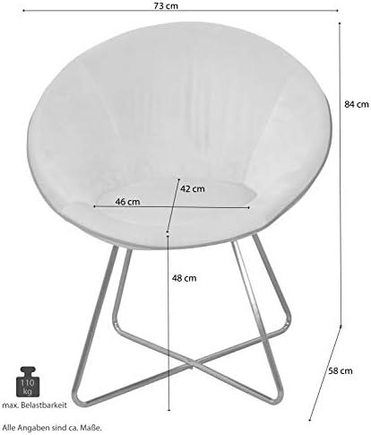 moebel direkt online Nelly Lot de 2 chaises rembourrées en Velours