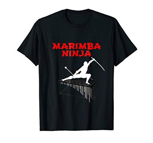 Marching Marimba - Marimba Ninja Marching Band T-Shirt | Funny Percussion Shirt