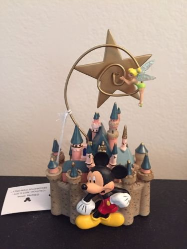 Disneyland Sleeping Beauty Castle with Star and Tinkerbell Photo Clip Holder by Disney