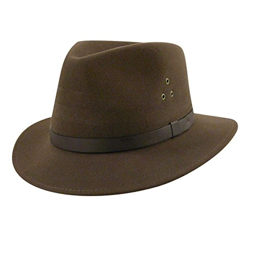 Country Gentleman Men's Dickens Fedora Hat, Khaki, XL by Country Gentleman (Image #3)