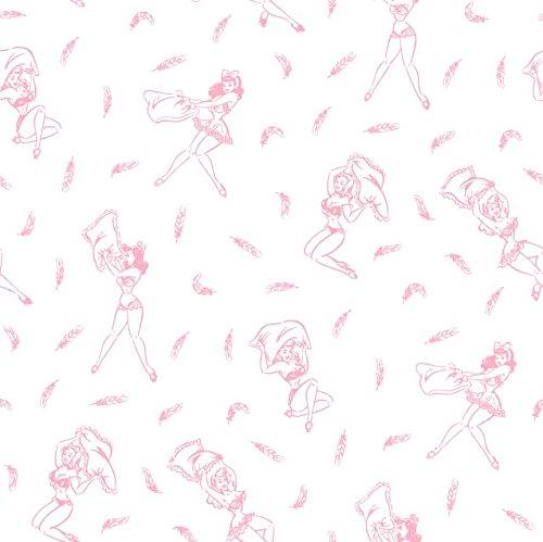 ピンクpin-up Girls羽毛布団カバー、ソフトコットン寝具 Full/Queen ピンク B071D8P8FFFull/Queen