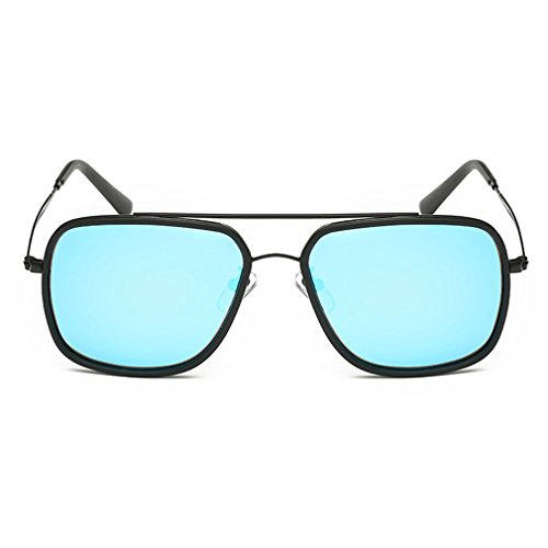 Smiley Face Killer Costume (A-Royal Classic Retro Reflective Lens Metal Frame Wayfarer Sunglasses(C4))