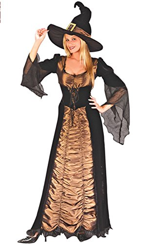 High Quality Womens Halloween Costumes (Witch Costume Nuoqi Women's Black Long Cosplay Costume)