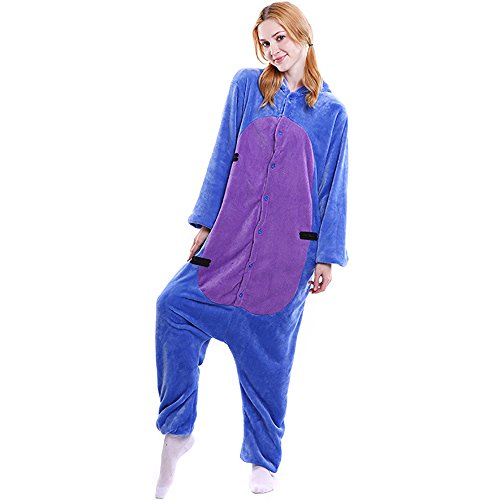 FLEAP Onesie Pajamas Animal Sleepwear Kigurumi Cosplay Cartoon Nightwear (Eeyore Halloween Costume)