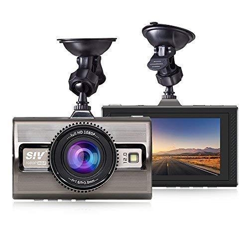 Motion Detection,Zinc Alloy Materials SVI SIV-M9 Parking Monitor G-Sensor Dash Camera,Car Dash Cam 1080P FHD DVR Car Driving Recorder 3 LCD Screen 170/°Wide Angle WDR Loop Recording