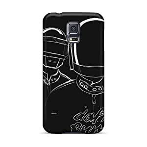 Shock Absorbent Hard Phone Cover For Samsung Galaxy S5 With Allow Personal Design Vivid Daft Punk Band Pattern CharlesPoirier