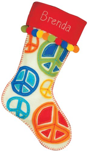 Dimensions Felt Applique, Peace Signs Stocking - Peace Stocking