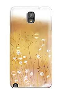 DanRobertse Galaxy Note 3 Hybrid Tpu Case Cover Silicon Bumper Anime Flowers Bubbles Mood Original