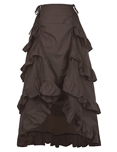 Pinup California Costumes Women's Victorian Steampunk Casual Coffee Size L (Gothic Costumes)
