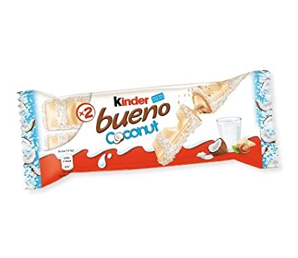 d5c570d16b9851 Kinder Bueno Coconut Limited Edition (Box of 10)  Amazon.co.uk  Grocery