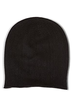 79ab913ef0d Fishers Finery Women s 100% Pure Cashmere Slouchy Beanie  Classic (Black)