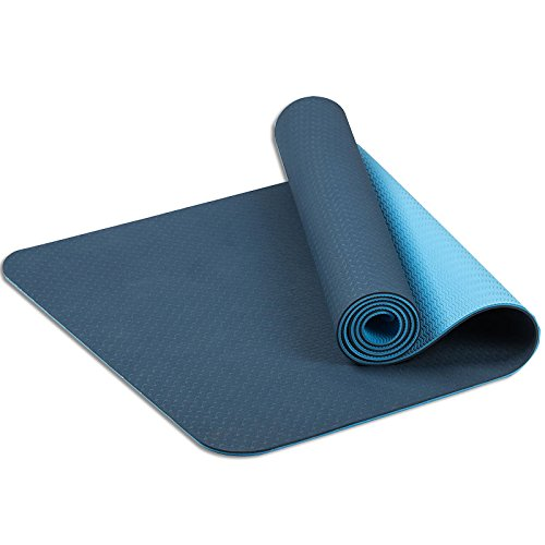 Non Slip Yoga Mat Eco Friendly TPE Workout Exercise Mat with Carrying Strap,Two-sided Anti-Slip Design Anti-tear Hot Pilates Pad Mats in Home & Gym - 6mm - Blog Women Thick