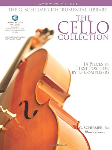 The Cello Collection Easy To Intermediate Cello/Piano G. Schirmer Instr Library Bk/Ado