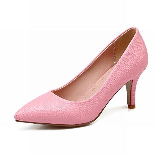 Latasa Femmes Mode Faux-snakes À Bout Pointu Robe À Talons Hauts Chaussures Chaussures Rose