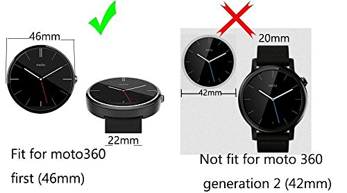 Amazon.com: WayIn® Correa para reloj de piel para Motorola ...