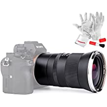 KERLEE 35mm F1.2 Prime Fixed Lens for Sony E-Mount Cameras Wide Angle Full Frame Large Aperture Manual Focus - Black