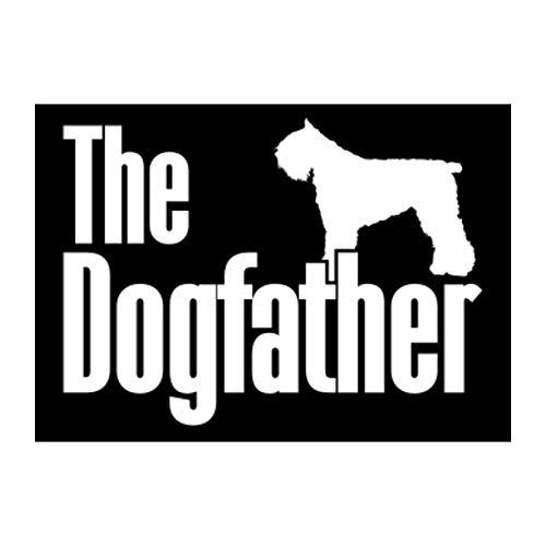 Idakoos The Dogfather Bouvier Des Flandres Sticker Pack x4 6