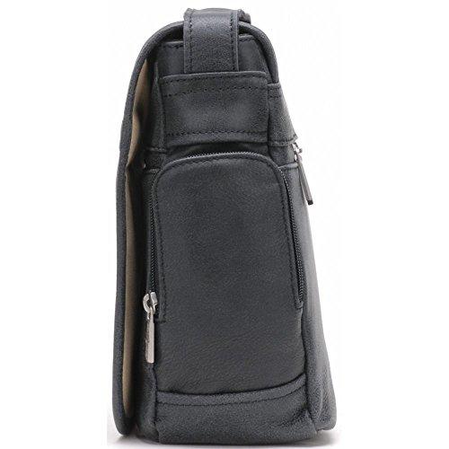 Arthur & aston - Sacoche bandoulière Arthur et Aston en cuir ref_ast36143-d-noir