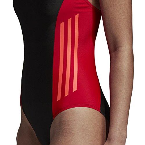 Donna Piece Fitness Adidas Colorblock sole Costume Nero Rosso Da 1 Bagno w0xqEHCx